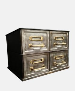 Industrial 4 Drawer Chest