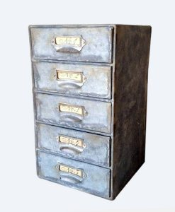 Industrial 5 Drawer Chest