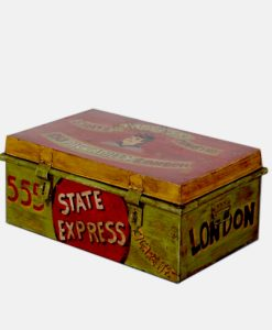 Industrial Antique Hand Painted Storage Box