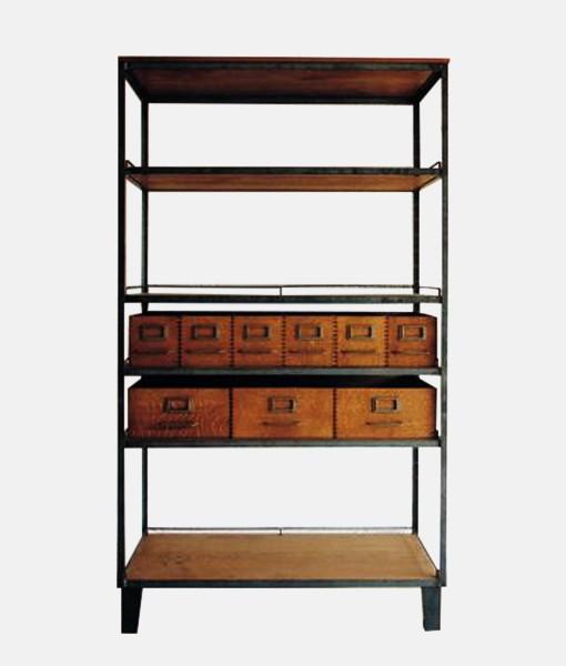 Industrial Rustic Book Shelf