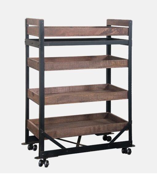 Industrial-Wheel-Bookshelf | Best of Exports