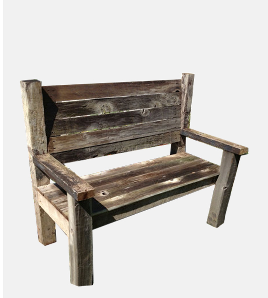 Reclaimed Wood Bench - Reclaimed Wood Bench - Industrial Furniture, Reclaimed Wood