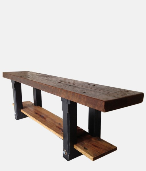 Reclaimed Wood Bench 6