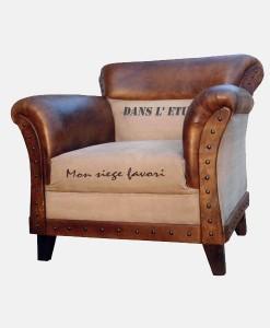 Canvas-leather-sofa-single