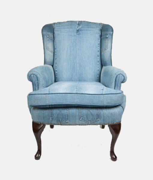 Denim Arm Chair