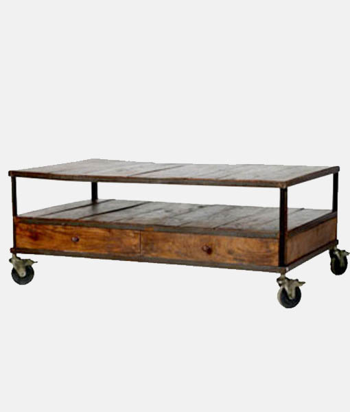 Industrial Coffee Table with storage
