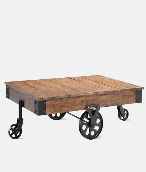 Iron Cart Industrial Coffee Table