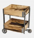 Reclaimed Wood Trolly Table