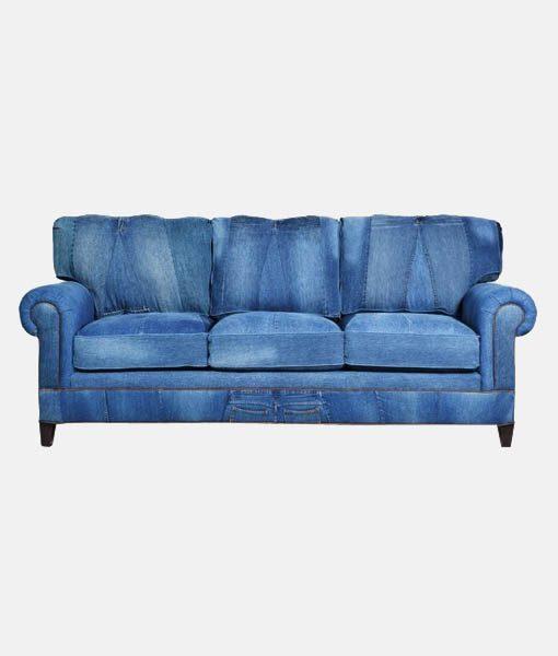 Denim Sofa 3-seater - Bestofexports