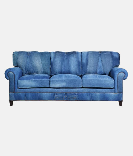 Denim sofa 3 seater bestofexports Denim loveseat
