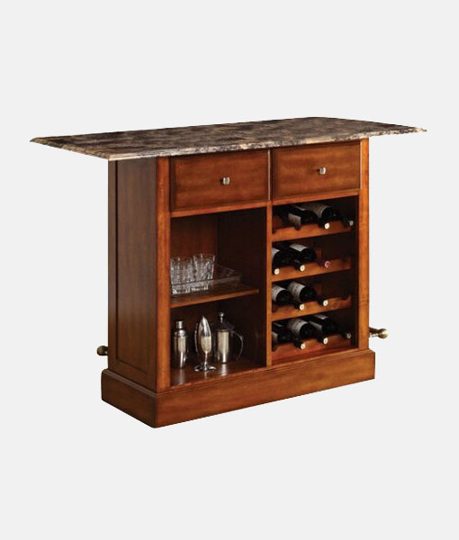 Solid Wooden Bar Cabinet Industrial Furniture Reclaimed