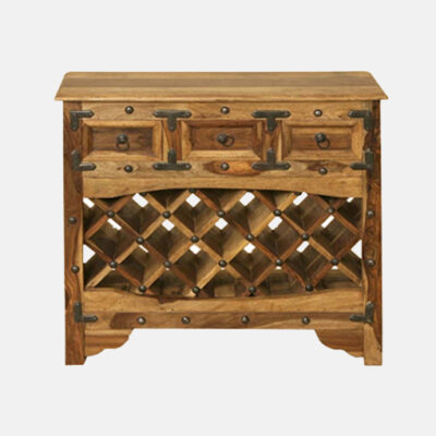 Solid Wooden Bar Cabinet