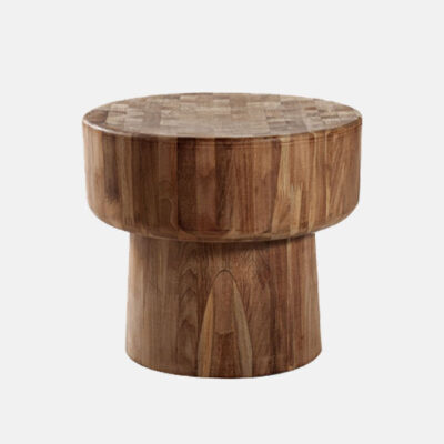 Round Shape Solid Wooden Side Table