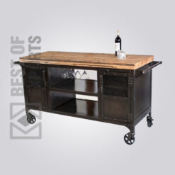 Industrial Style Bar Cabinet