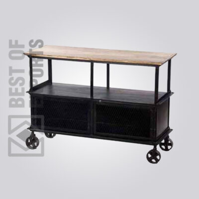Industrial Media Cabinet With Wheel