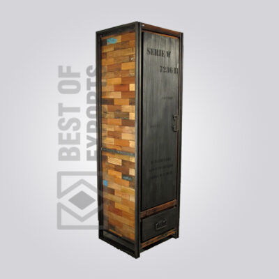 Industrial Almirah with Reclaimed Wood