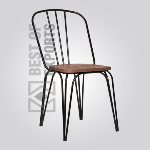 Living Hairpin Chair with Wood Seat 3