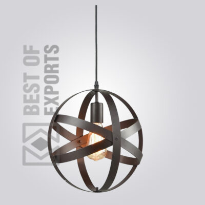 Ceiling Lamp With Round Cage