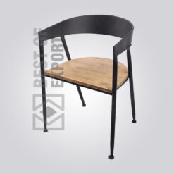 Industrial Relax Chair With Wooden Seat