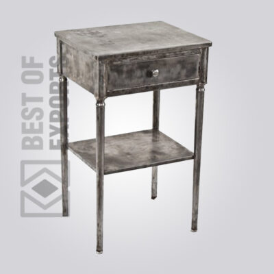 Metal Sidetable With Drawer
