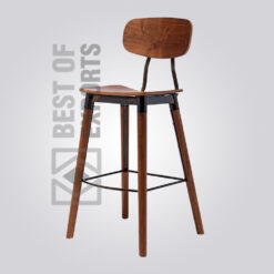 Vintage Barstool With Back Support