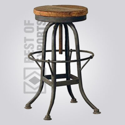 Adjustable Bar Stool With Leg Stand