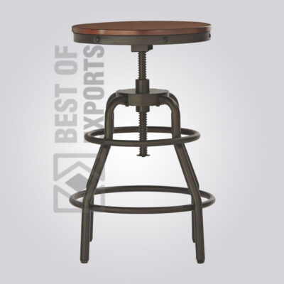 Counter Height Round Bar Stool With Leg Stand