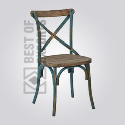 Industrial X Cross Dining Chair