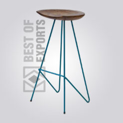 Metal Bar Stool Without Back Support