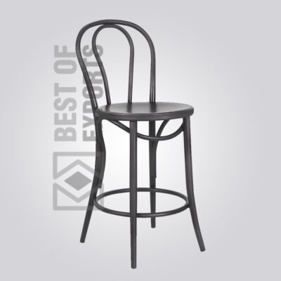 Industrial Dining Chair With Round Seat