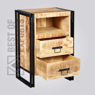 industrial furniture india   Industrial Sidetable With Drawer   Best of Exports