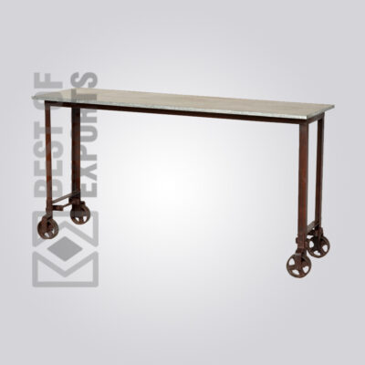 Console Table With Wheel