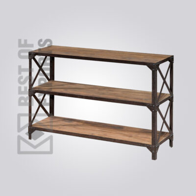 Console Table With 3 Shelf