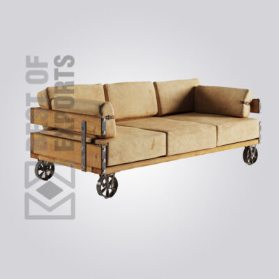 CHESTERFIELD SOFA WITH WHEEL