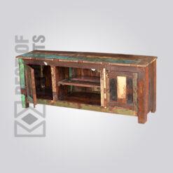 Reclaimed Wood Media Cabinet - 5