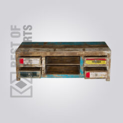 Reclaimed Wood Media Console - 5