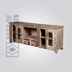 Reclaimed Wood Media Cabinet - 6