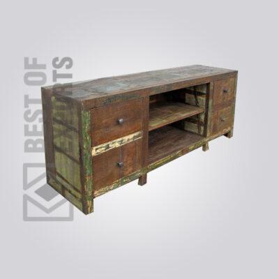 Reclaimed Wood Media Cabinet - 7