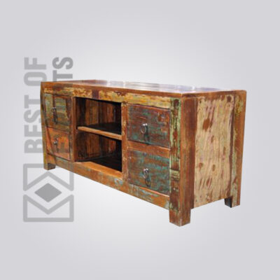 Reclaimed Wood TV Stand - 3