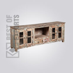 Reclaimed Wood Media Cabinet - 8
