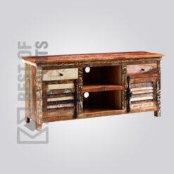 Reclaimed Wood Media Cabinet - 9