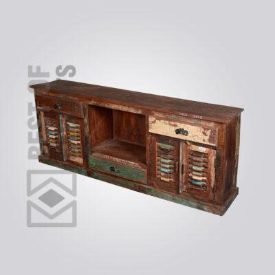 Reclaimed Wood Media Cabinet - 10