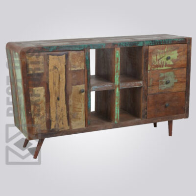 Reclaimed Wood Sideboard With Multi Drawer