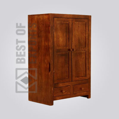 Modern Wooden Almirah With Drawer - 2