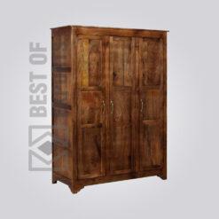 Wooden Almirah With 3 Door - 2