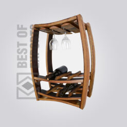 Solid Wood Bar Cabinet - 2