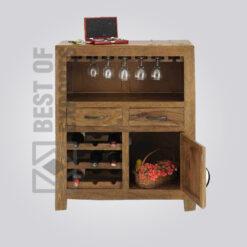 Wooden Bar Cabinet - 4