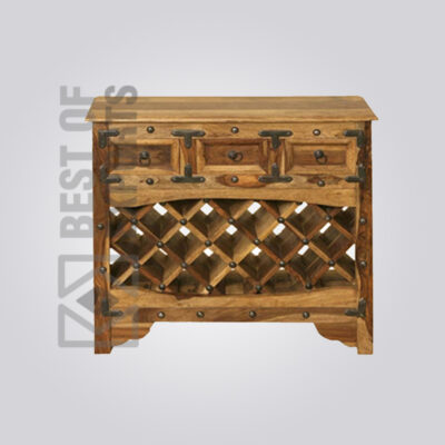 Solid Wood Bar Cabinet - 3