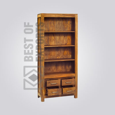 Solid Wooden Bookcase - 3