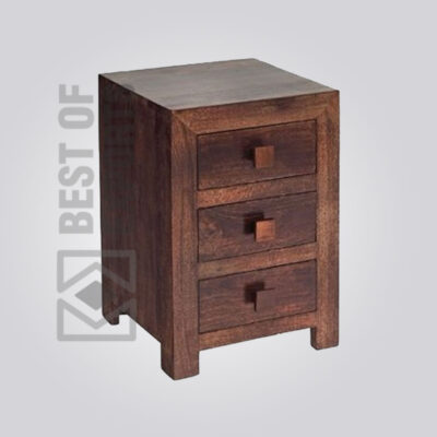 Solid Wooden Bedside Table - 3